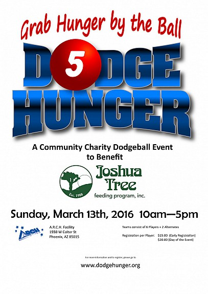5th Annual Dodge Hunger Poster