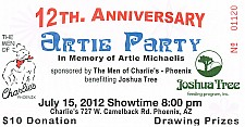 12th Anniversary Artie Party